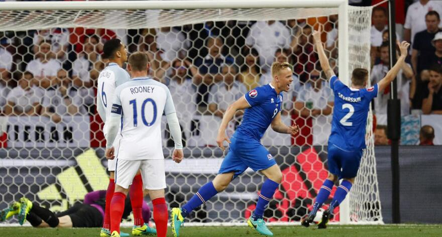 欧洲杯冰岛爆冷战胜英格兰